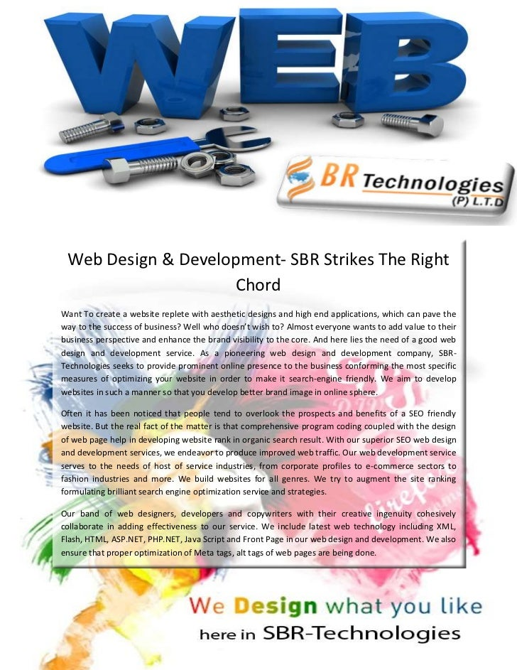 Web Design & Development- SBR Strikes The Right                    ChordWant To create a website replete with aesthetic de...