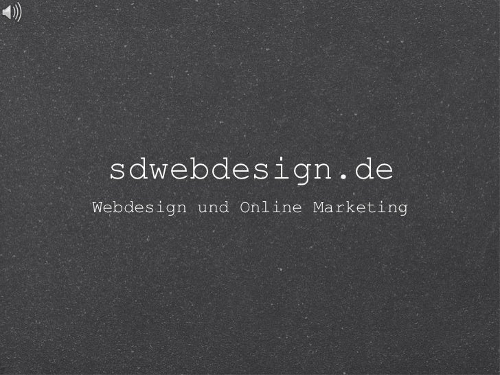 sdwebdesign.deWebdesign und Online Marketing