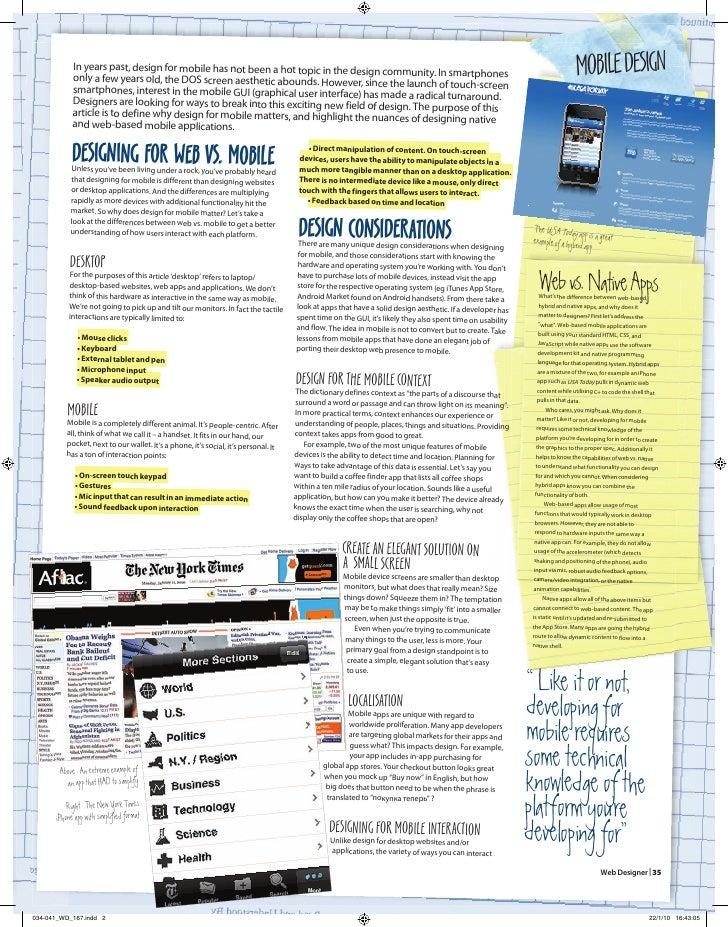 Mobile GUI Design - Web Designer Magazine Article Slide 2