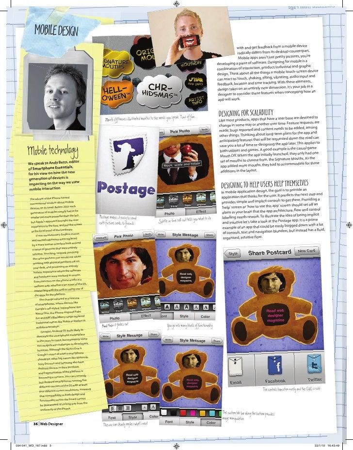 Mobile GUI Design - Web Designer Magazine Article Slide 3