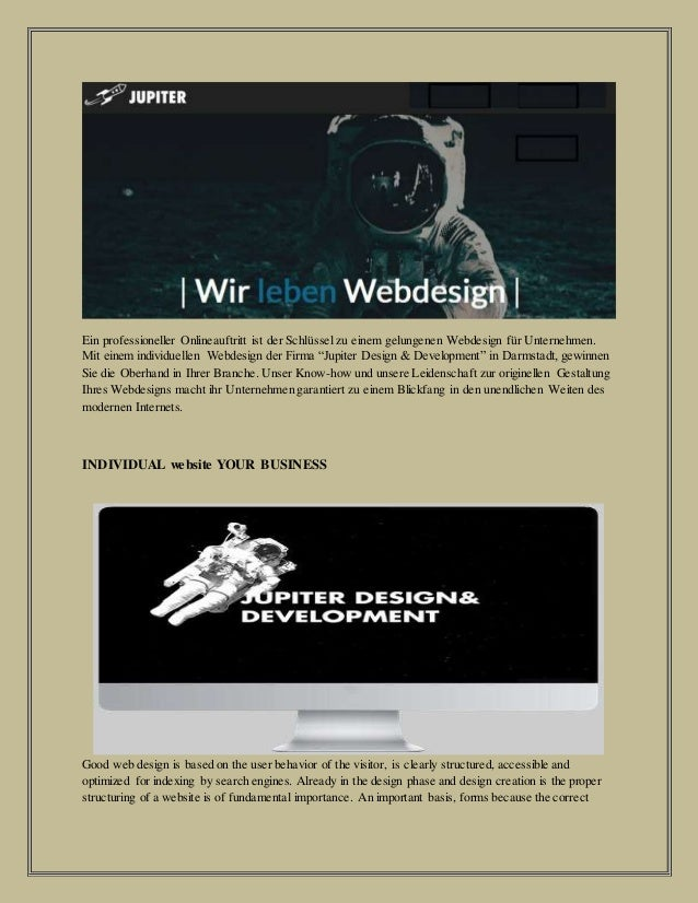 Ein professioneller Onlineauftritt ist der Schlüssel zu einem gelungenen Webdesign für Unternehmen. Mit einem individuelle...