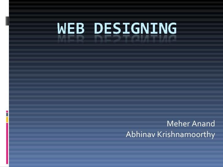 Meher Anand Abhinav Krishnamoorthy