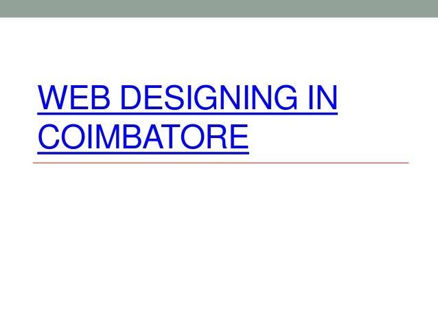 WEB DESIGNING IN COIMBATORE