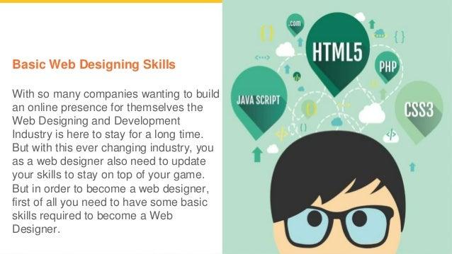Web Designing Skills A Web Professional Should Have