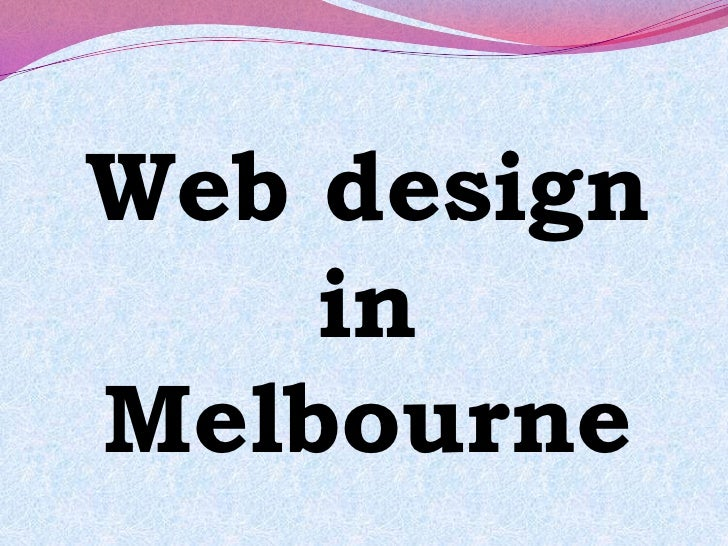 Web design in Melbourne<br />