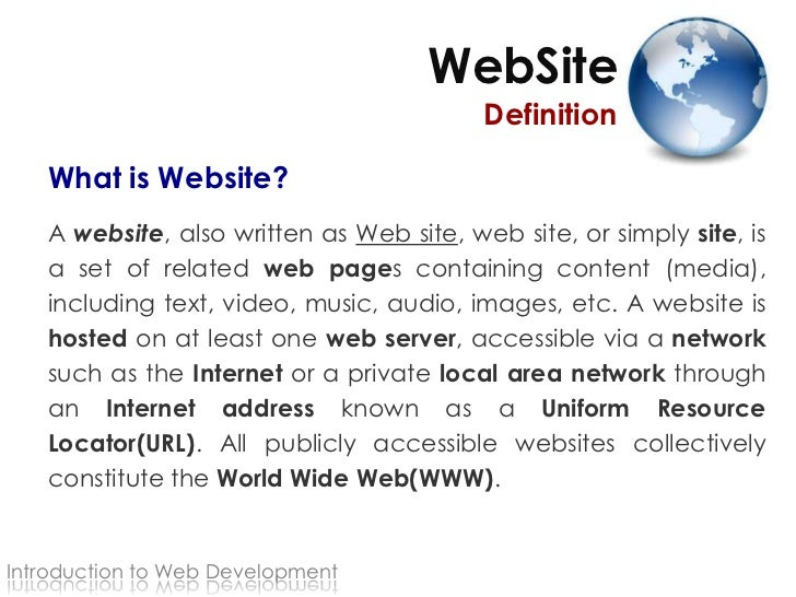 what is a site - Template