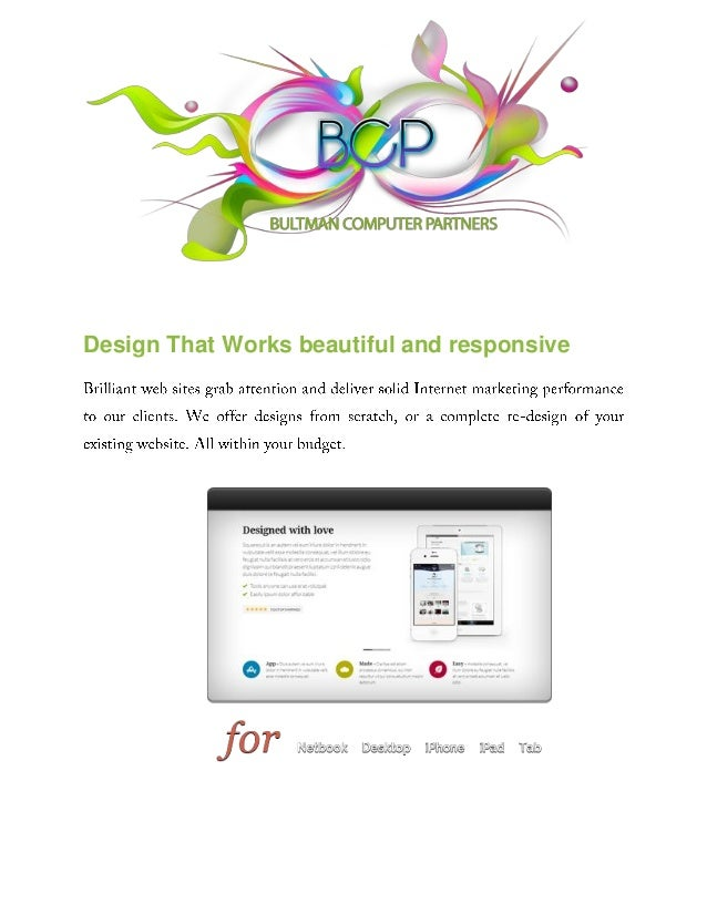 Design That Works beautiful and responsive