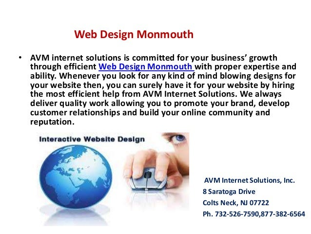 Web Design Monmouth • AVM internet solutions is committed for your business' growth through efficient Web Design Monmouth ...