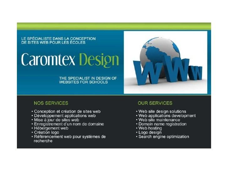 Caromtex Design - web sites for school