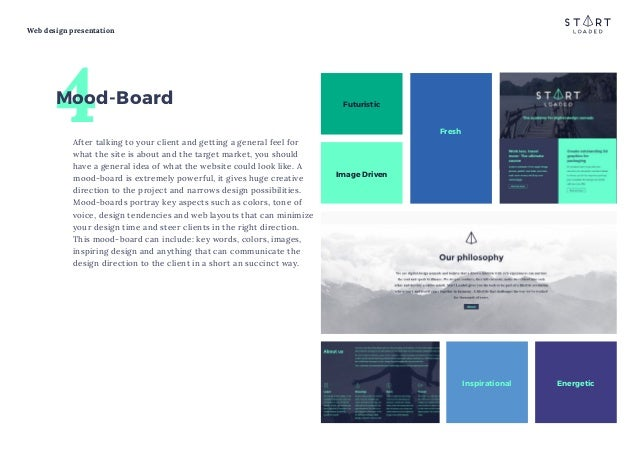 free presentation template for web design projects