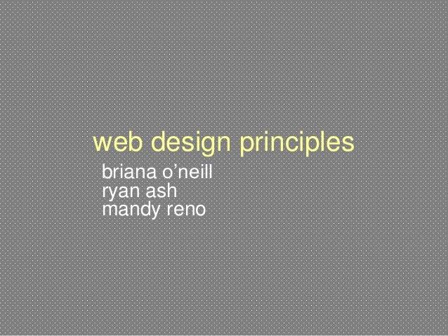 web design principles briana o'neill ryan ash mandy reno