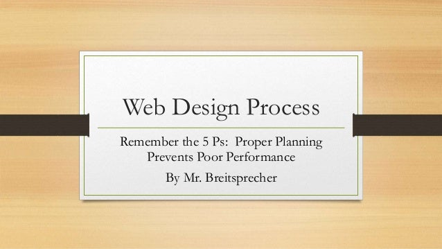 Web Design Process Proper Planning Prevents Poor Performance