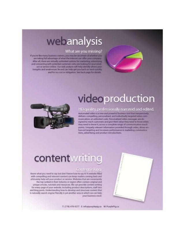 Web design & seo brochure