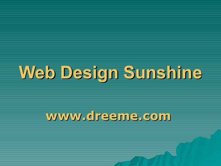 Web Design Sunshine Coast www.dreeme.com