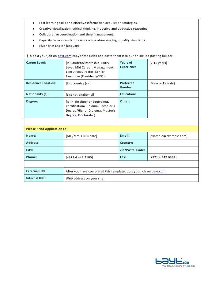 Web Developer Job Description Template by Bayt – Web Developer Job Description