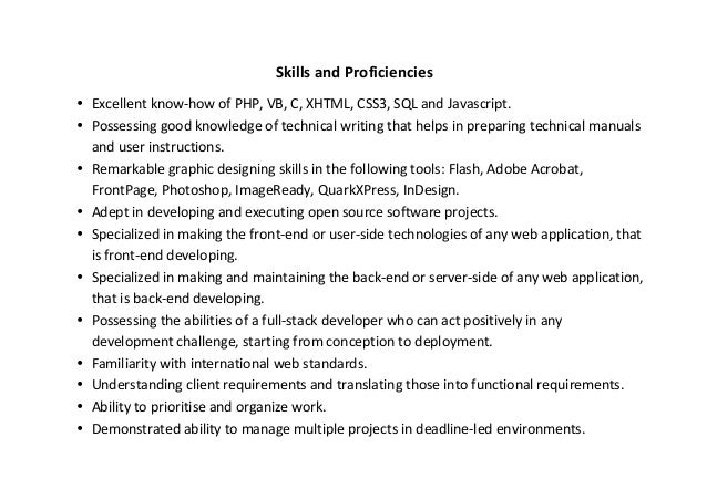 web developer resume sample - Sql Developer Resume