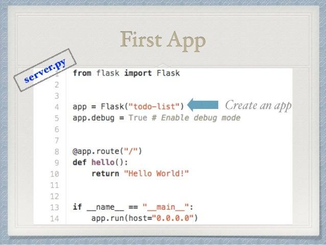 First App  Create an app  server.py