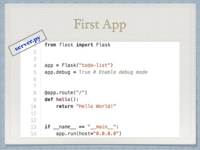 First App  server.py