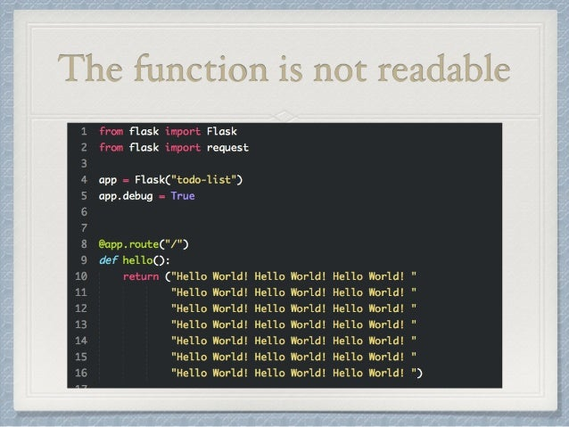 The function is not readable