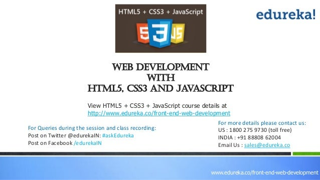 Web Development With Html5 Css3 Javascript