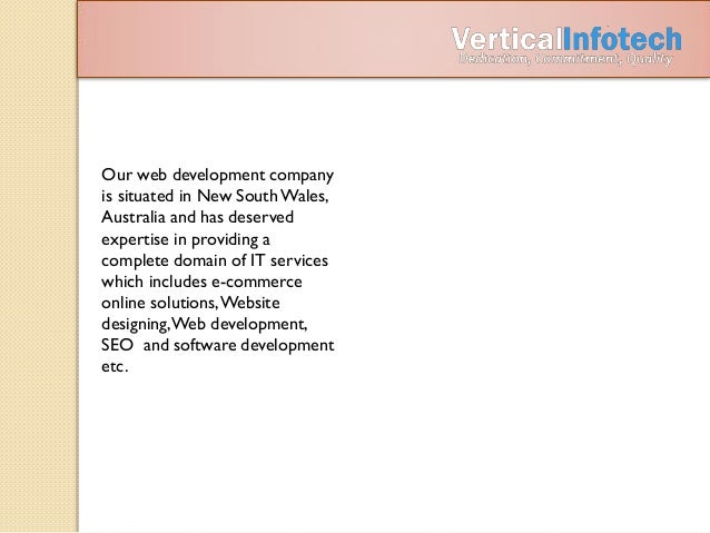 Web Development Company in Australia - Vertical Infotech