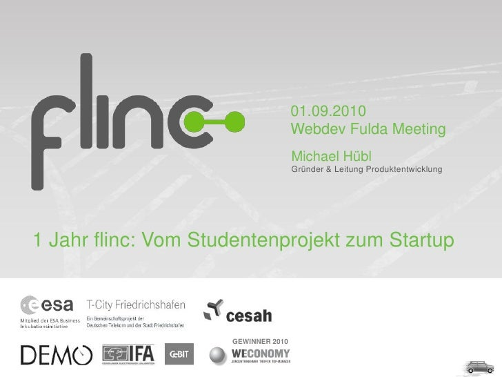 1 Jahr flinc - Vom Studentenprojekt zum Startup