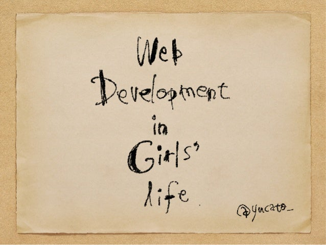 Web development in girls' life