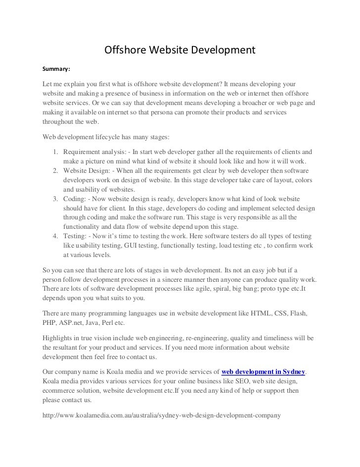 Offshore Website Development<br />Summary: <br />Let me explain you first what is offshore website development? It means d...