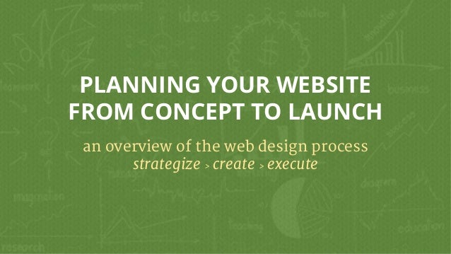 PLANNING YOUR WEBSITE FROM CONCEPT TO LAUNCH an overview of the web design process strategize > create > execute