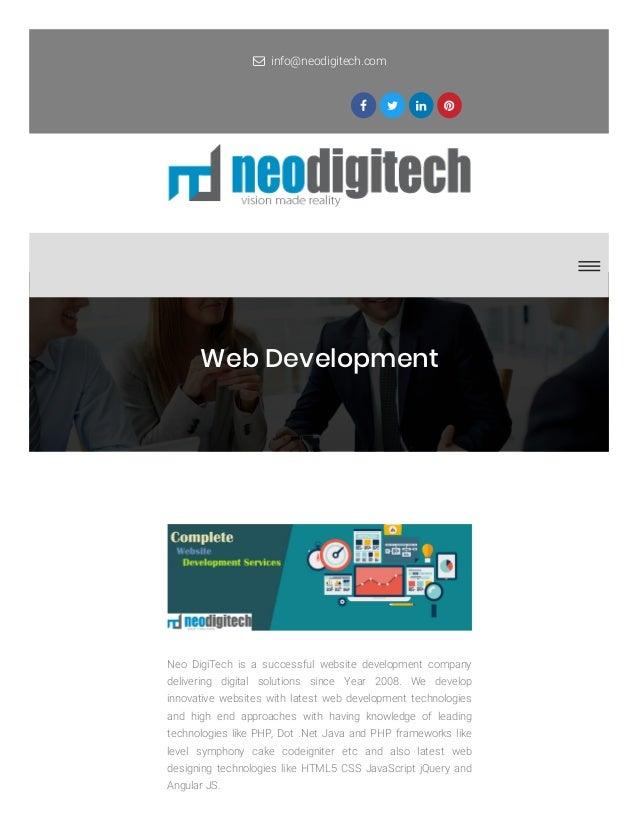 Web Development Services Provider Company In Uk Neodigitech Co Uk