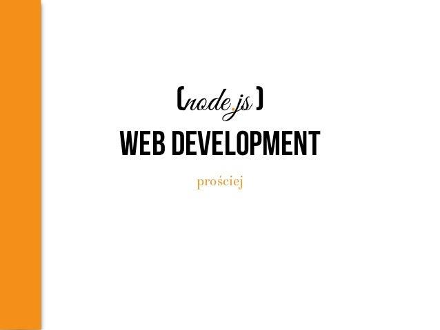 (node.js ) web development prościej
