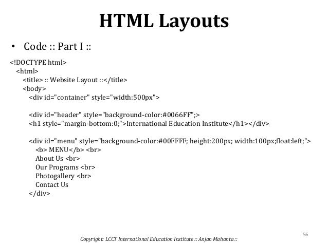 how to create a webpage using html code