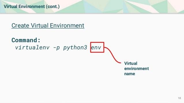 how to create a virtual environment in django
