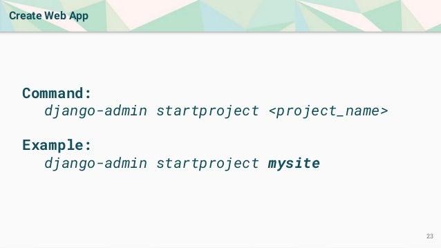 Intro to Web Development Using Python and Django