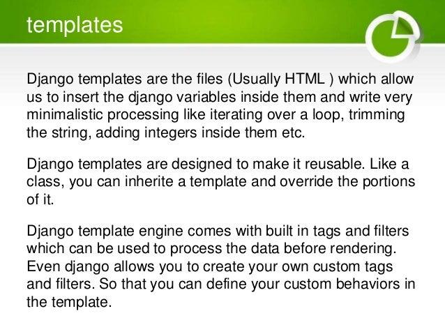 Web development with django basics presentation 21 templates django pronofoot35fo Gallery