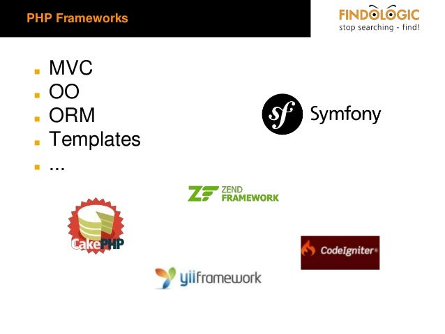 PHP Frameworks  ◼ ◼  ◼ ◼ ◼  MVC OO ORM Templates ...