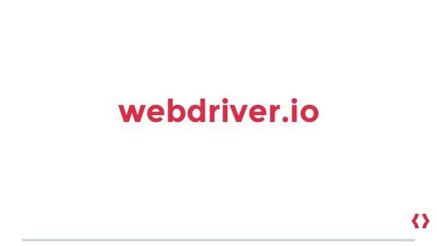 webdriver.io
