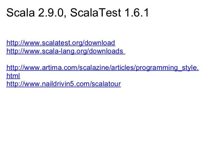 SFSE Lightning Talk: WebDriver, ScalaTest, SBT and IntelliJ-IDEA