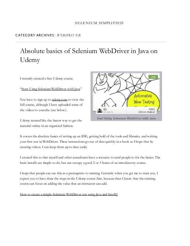 Selenium manual | selenium (software) | web browser.