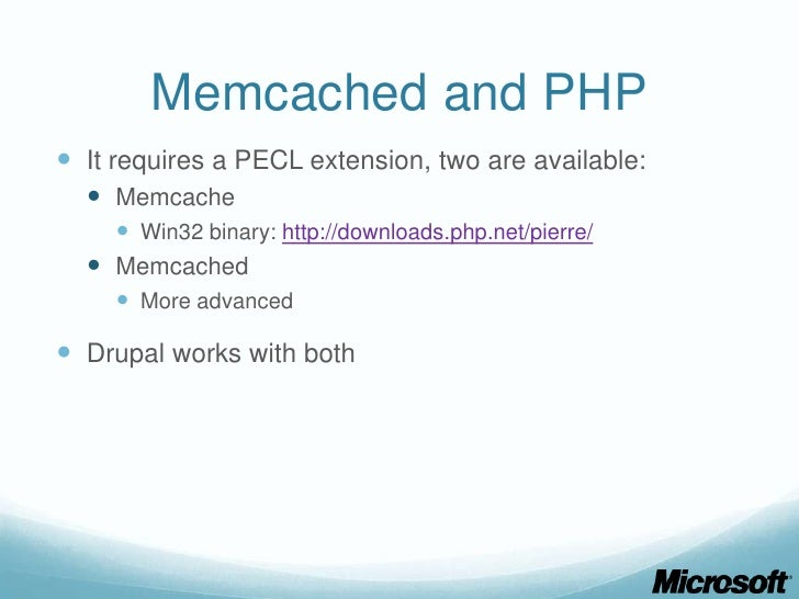 how to set memcache in drupal