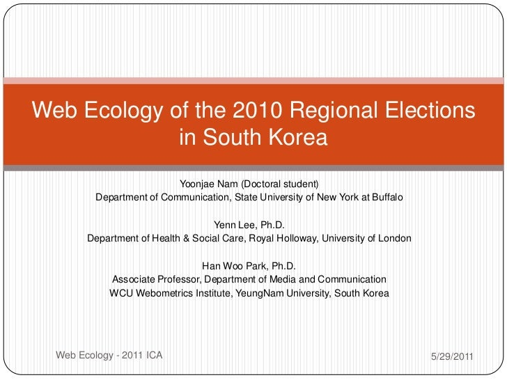 Yoonjae Nam (Doctoral student)<br />Department of Communication, State University of New York at Buffalo<br />YennLee, Ph....