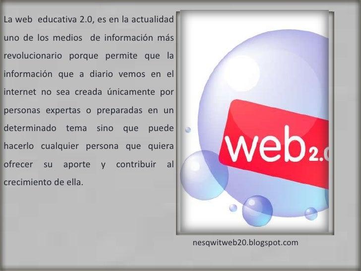 Web educativa 2.0 Slide 2