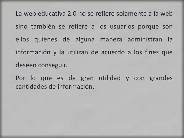 Web educativa 2.0 Slide 3