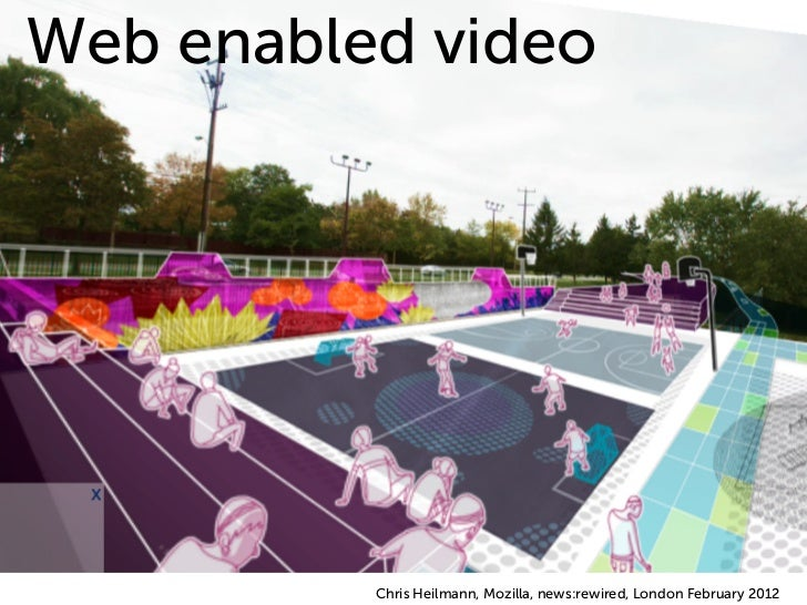 Web enabled video          Chris Heilmann, Mozilla, news:rewired, London February 2012