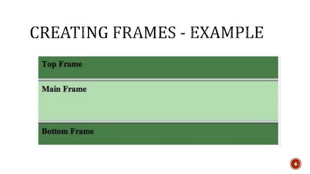 Html Frameset Inline Frame