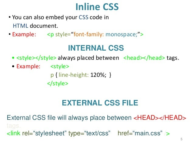 Web Engineering - Introduction to CSS