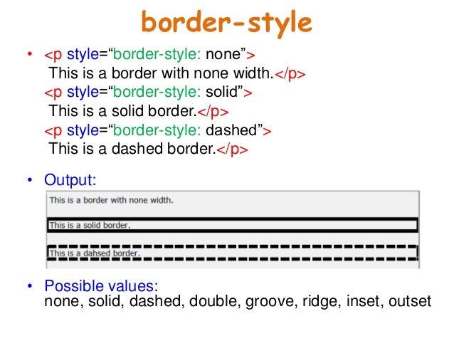 10. Border Style U2022 U003cp ...  Basic P&l Template