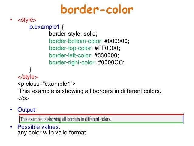 ... 11. Border Color ...  Basic P&l Template