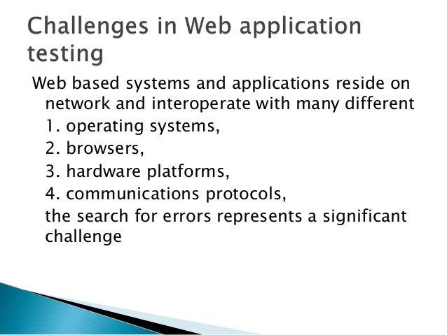 Web Engineering Web Application Testing