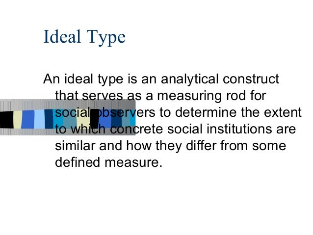 webers ideal type bureaucracy One example of what he called an ideal type, a method he used to construct a logically precise definition the word ideal did not imply a value judgment what he sought was a clearly specified set of characteristics that could be tested against historical and current realities21 he theorized that modern bureaucracy.